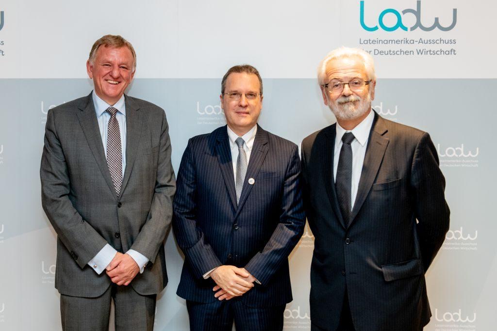 Brasiliens Vizeaußenminister Nóbrega und Botschafter Jaguaribe