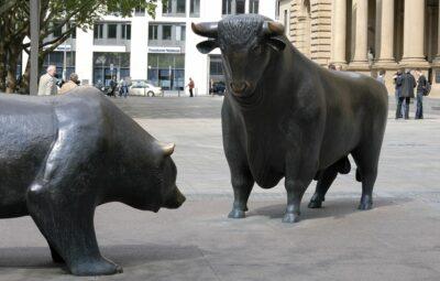 Bulle und Bär Frankfurt Börse